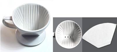 カリタ式3つ穴ドリッパー、台形のペーパーフィルター